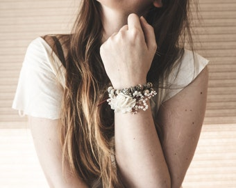 "Bohemian Lace ""Flower Child"" Jewelry, Boho Gypsy Beaded Headband/Bracelet/Chocker Necklace/Headpiece/Leather Hair Accessory Adornment ByLEXY"