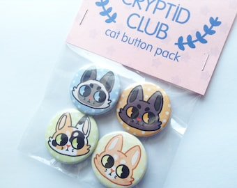 4 Pack Cat Pins