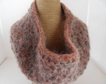 cowl scarf circle scarf handmade cowlscarf infinity scarf mohair cowlscarf