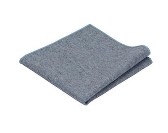 Blue Grey Wool Pocket Square.Pastel Blue Wool Handkerchief.