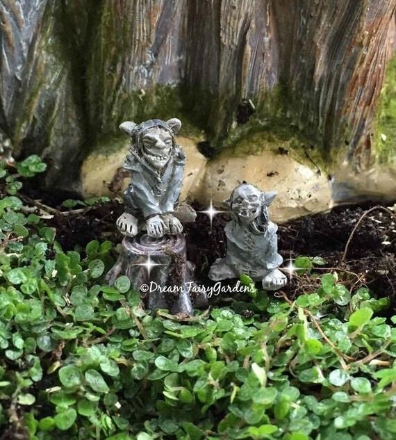 Micro mini trolls fairy garden gargoyle miniature troll for Garden trolls