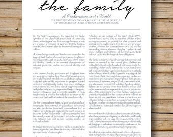 Family Proclamation, Modern Simplistic Style, DIGITAL FILE Only, 8x10 & 11x14 Included, LDS Printable, Proclamation to the World