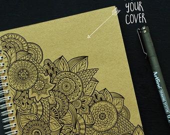 Blank notebook, sketchbook, Spiral bound notebook, drawing book, journal notebook 15x20 cm
