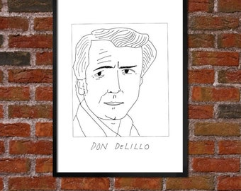 Badly Drawn Don DeLillo - Literary Poster - *** BUY 4, GET A 5th FREE***