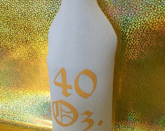 40 oz. Khaki Beer Bottle Sleeve