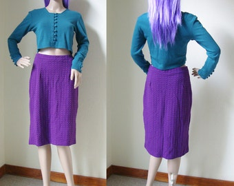 SALE // PURPLE SKIRT -tube, pegged, lilac, knee length, party, 90s, 80s, cyber, boho, straight, relief, aesthetic, casual-