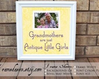 grandmother gift grandmother quote frame grandma picture frame grandma grandaughter antique little girls 15x15 frame