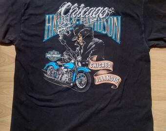 Vintage Chicago Harley Davidson Shirt size Large Made in USA
