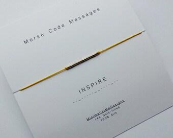 INSPIRE - Morse Code Bracelet