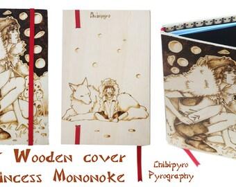Wooden book A5 Mononoke