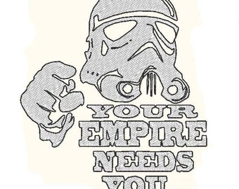 Star Wars Stormtrooper : Empire needs you (embroidery design)