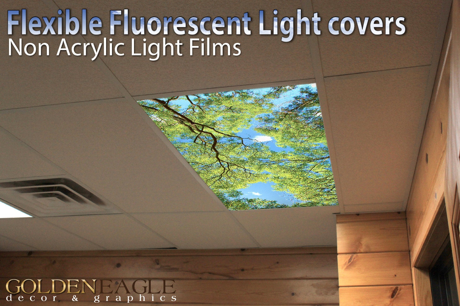 Flexible Fluorescent Light Cover Films Skylight Ceiling Office