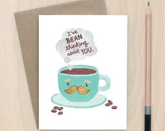 Bean Thinking - A2 Greeting Card