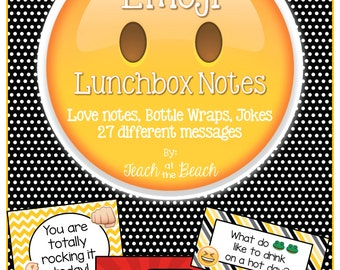 Emoji Lunchbox Notes, Jokes, and Bottle Wraps