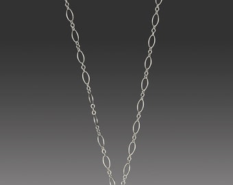 Sterling Silver Open Heart Necklace With Sapphire With 18 Inch Chain Sterling Silver Chain
