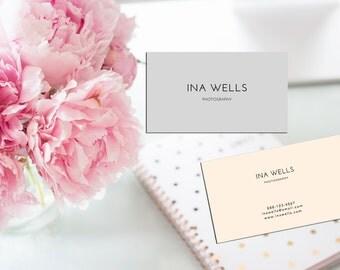 Minimal Warm Colours Custom Business Card Template.