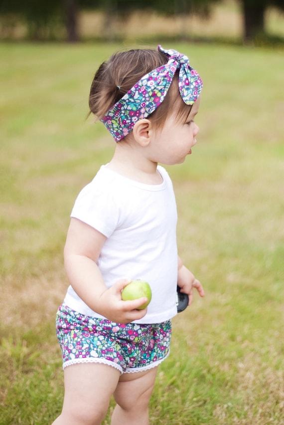 Mint Pink Floral Baby Shorts Toddler Shorts Girl Shorts Cluny Lace Trim Shorts Pink Floral Toddler Shorts Girl Shorts Floral Shorts Girl Pan