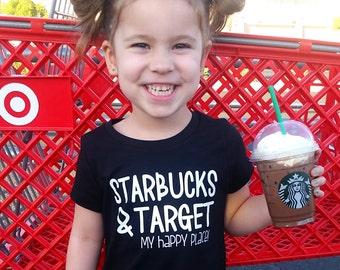 Starbucks And Target My Happy Place Newborn Bodysuit  Baby Girl Clothing Baby Boy Target Shirt Starbucks Shirt Cake Pops And Fraps