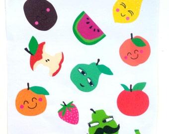 1 sheet of fruit stickers