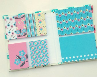 Floral Sticky Notes booklet / book / set, pastel colors