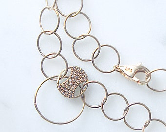 14K Gold Diamond Necklace, Diamond Necklace, Diamond Necklace, Versatile Necklace, Long Necklace, Holiday Gift
