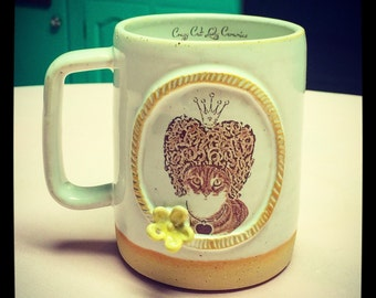 The Royal Collection- The Queen Cat Latte Mug