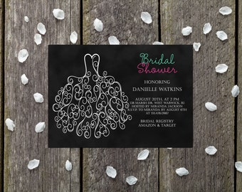 Bridal Shower - Bridal Shower Invitation - Shower Invitation - Printable Invitation - Wedding Shower - Custom Color