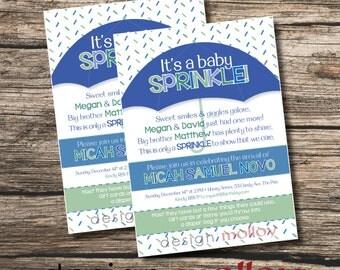 Baby Sprinkle Invitation, Printable Baby Sprinkle Invitation, Baby Sprinkle Shower Invitation, Custom Baby Shower Invitation,DIY Baby Shower