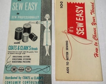 Two 1950s Vintage Coats & Clarks Sewing Guides