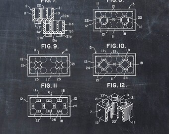 Patent Print Lego Toy Building Blocks Patent Art Print Patent Poster