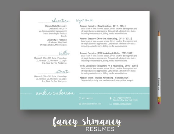 items similar to resume template the alice landscape resume instant ms word download resume cover letter template mac compatible on etsy