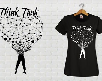 THINK TANK Tee shirt adjusted Cup, male or female.