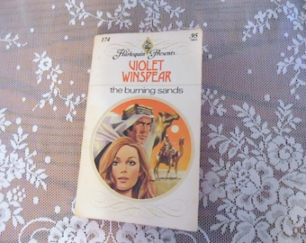 Harlequin Book Violet Winspear The Burning Sands 1977 Romance Novels Vintage Books 1970's Novels Love Story Easy Reads Like New Condition