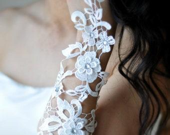 Long lace gloves - a white wedding dream, wedding gloves, gloves, lace, wedding accessory