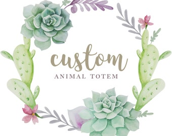 Custom Spirit Animal Totem Polymer Clay Figurine