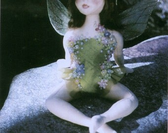Dawn, Fairy of the Morning Dew Cloth Doll Pattern - E-Pattern