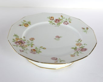 Vintage French Limoges Porcelain Cake Stand Serving dish