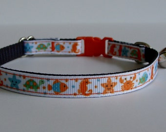 Fun at the Beach Cat Collar - Ready to Ship!