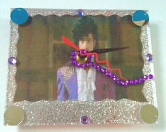 Handmade Acrylic Prince Wall Clock, Prince, Prince Clock, Handmade. Acrylic Clock, Functional Art,  Made By Mod.