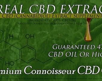 One Gram Premium Connoisseur CBD Oil  47.8 Percent CBD Full Spectrum  Amazing  Flavor and Potency