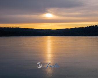 Lake Winni Winters ~ Lake Winnipesaukee, Meredith, New Hampshire, Church Landing, Lake Photography, Sunrise, Wall Decor, Joules, Artwork