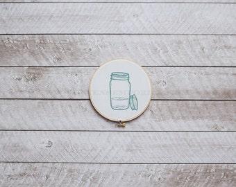 Glass Jar Machine Embroidery Design