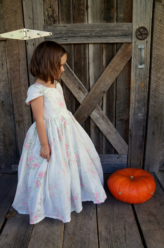 Princess Dress Costume Floral Gown Girls Size 4 Inspired by the 2015 Disney Cinderella Film