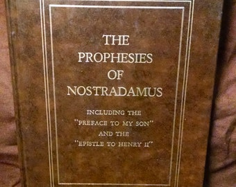 The Prophesies of Nostradamus - hardcover - 1975
