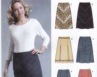 skirt sewing pattern flared skirt inverted pleat by ziatacraft