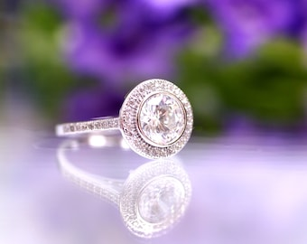 Sterling Silver 925 CZ ring - size 5