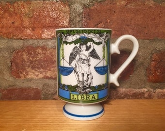 LIBRA Smug Mug Vintage Royal Crown Zodiac by Elena