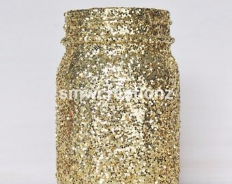 Glitter Mason Jar - Valentines Day Decor- Christmas Decor- Wedding Decor/ Party Decor/ Home Decor/God Mason Jars