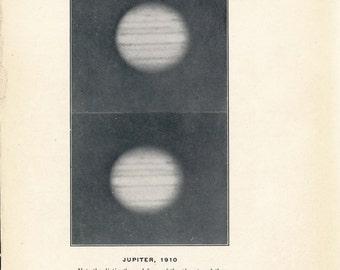1914 Jupiter Antique Astronomy print