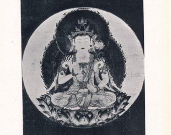 1936 Buddha Antique Print